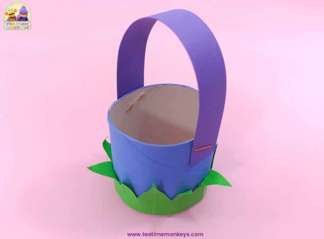 Bunny Basket - Easter craft for kids - Step 6 -Tea Time Monkeys