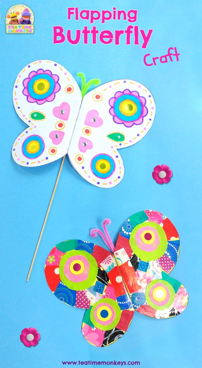 Flapping Butterfly Craft - Tea Time Monkeys