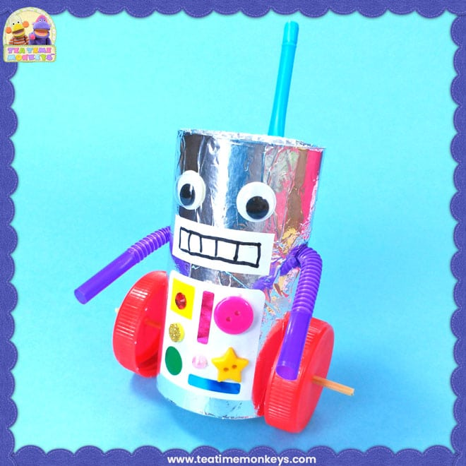 Recycled Robot Craft - Tea Time Monkeys