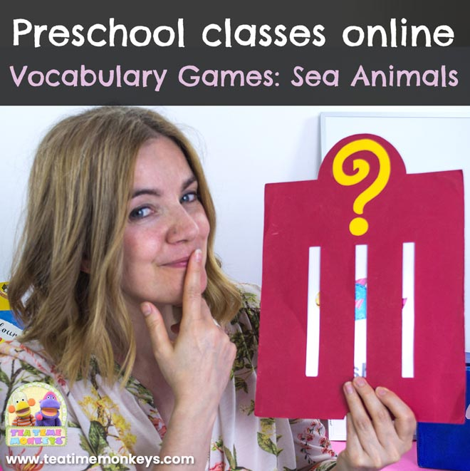 Preschool classes online. Vocabulary Games: Sea Animals