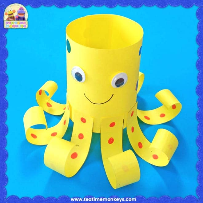 Easy Paper Octopus Craft - Tea Time Monkeys
