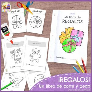 Regalos - Libro de corte y pega - Tea Time Monkeys