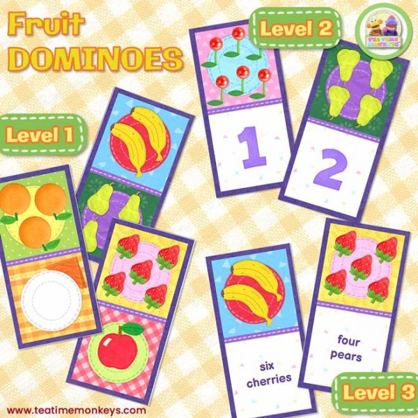 Fruit Dominoes Game - Tea Time Monkeys