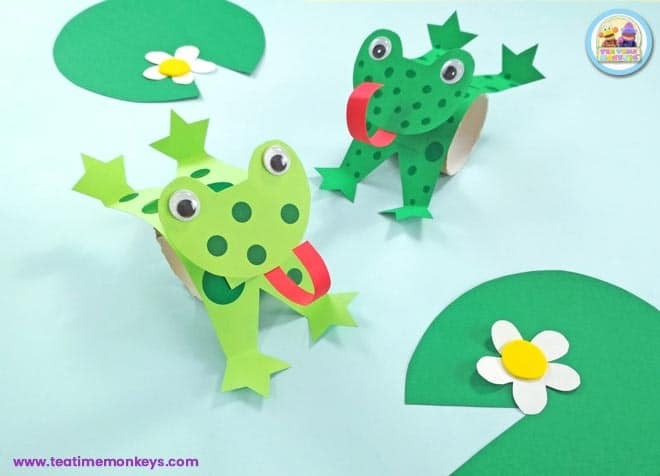 Leaping Frog Craft - Tea Time Monkeys