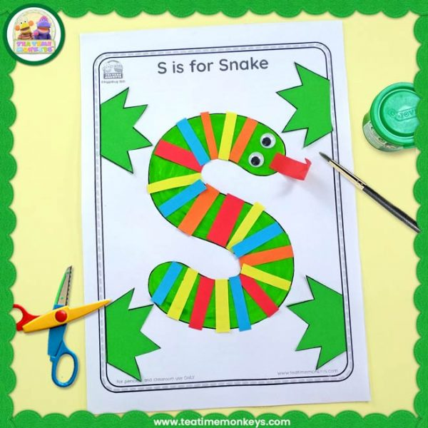 S is for Snake - Free Letter Activity - Tea Time Monkeys